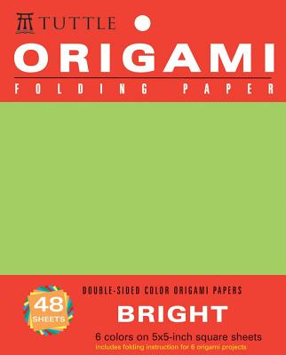 Origami Folding Paper Bright 5x5 inch 48 Sheets By Tuttle Publishing (COR)